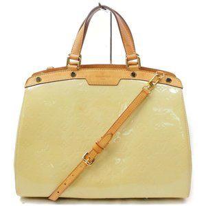 Louis Vuitton Hand Bag Brea Beiges Vernis